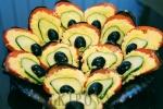 Святкова закуска з баклажанів «Павлиний хвіст»