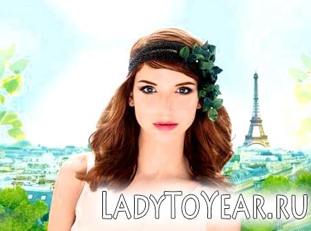 Дівчина в Парижі навесні фото