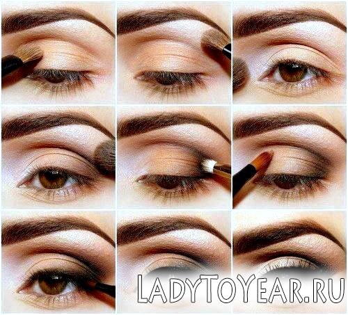 Як робити макіяж для карих очей фото