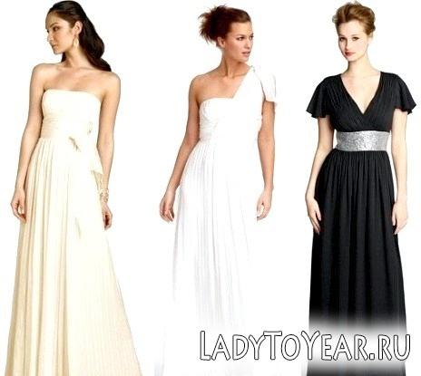 Грецький стиль в весільних та вечірніх сукнях