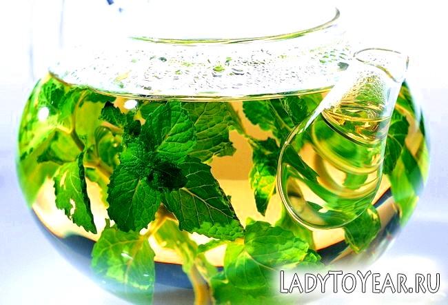 Трав'яний відвар в скляному чайнику
