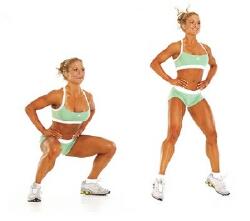 вправи для схуднення ніг і стегон в домашніх умовах