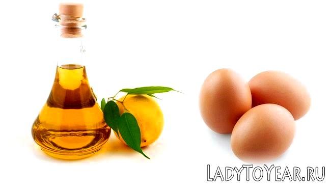 Масло, лимон і яйце