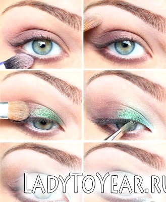 Денний мейк ап для сіро-блакитних очей фото