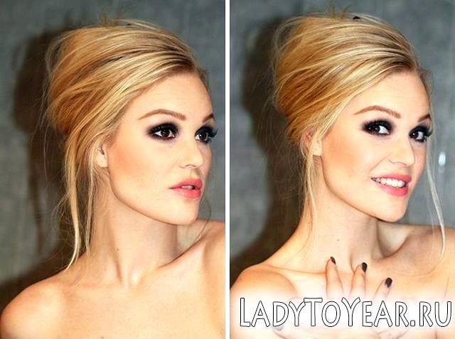 Особливості мейк апу блондинок з карими очима фото