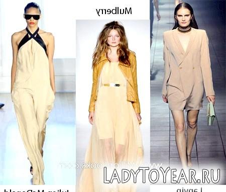 Модні кольори одягу весна 2012