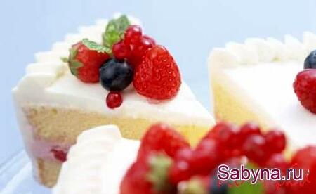 Новорічний рецепт 2013, торт Ягоди на снігу, на святковий стіл