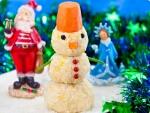 Новорічний рецепт закуски Сніговик