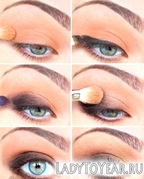 Природний макіяж очей фото