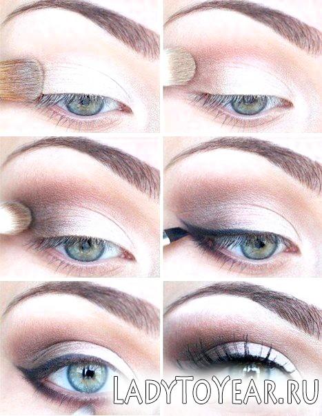 Діловий макіяж очей фото