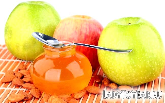 Мед, яблука і мигдальні горіхи