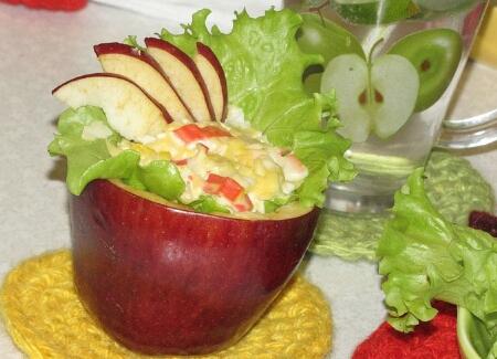 Як приготувати «Овочевий салат в яблуках»