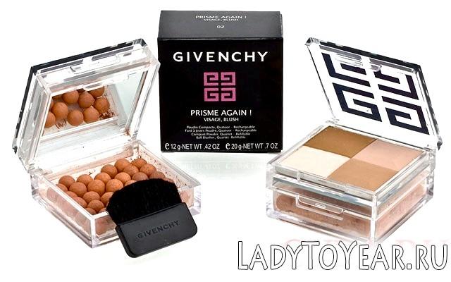 Пудра Живанши + Рум'яна в одній коробочці Givenchy Prisme Again. Visage, Blushфото