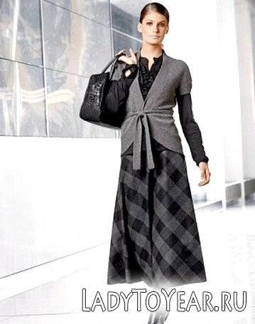 З чим носити довгі теплі спідниці