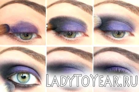 Макіяж очей в три кольори фото