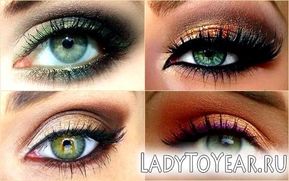 Багатобарвний макіяж фото