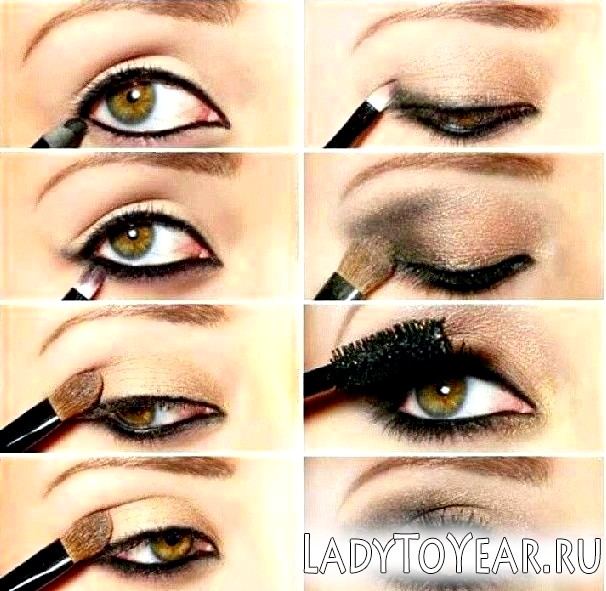 Макіяж для зелених очей і рудого волосся фото