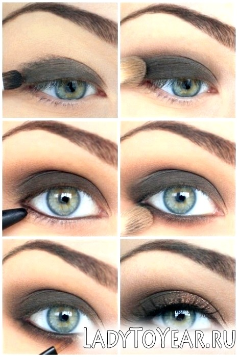 Макіяж для зелених очей і русявого волосся фото