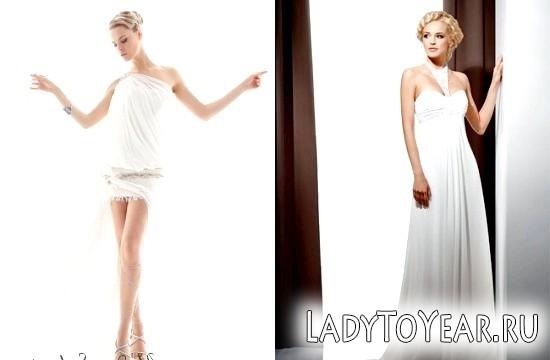 Весільні сукні у грецькому стилі Фото