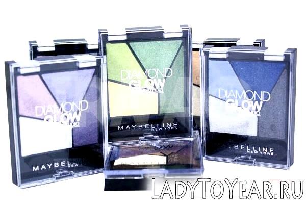 Палетки тіней Maybelline Diamond Glow фото