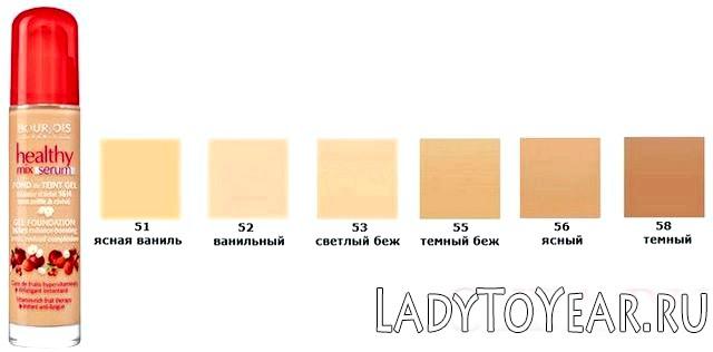 Колірна палітра Bourjois Healthy Mix фото