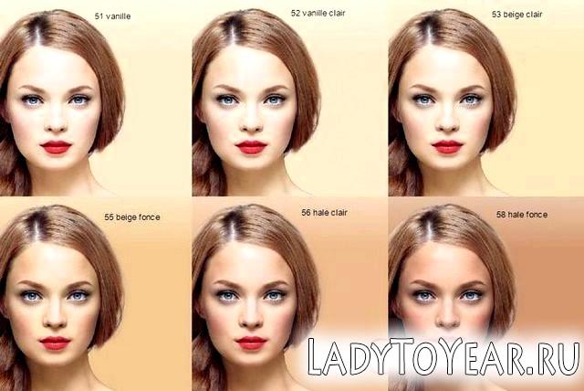 Колірна палітра Bourjois Healthy Mix на шкірі фото