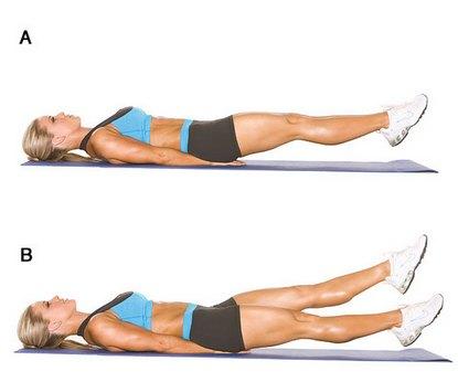 перед вправами частка внутрішньої сторони стегна - це ходіння на зовнішній стороні стопи