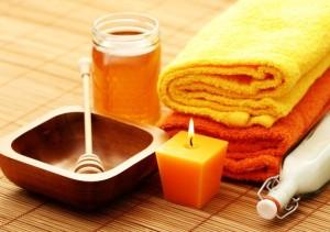 мед для масажу живота