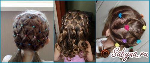 Зачіска на 1 вересня сплетені хвостики