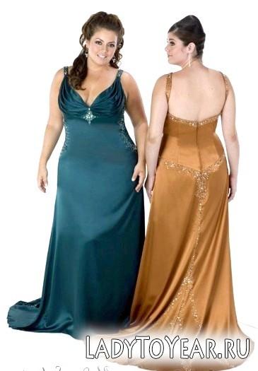 Вечірні сукні для повних жінок