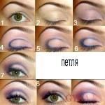 Вечірній макіяж зелених очей - приклад 6 фото