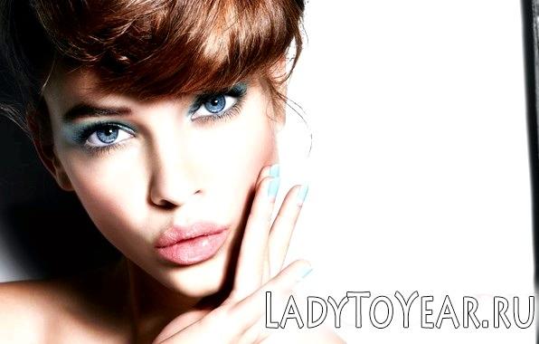 Вечірній макіяж для блакитних очей фото