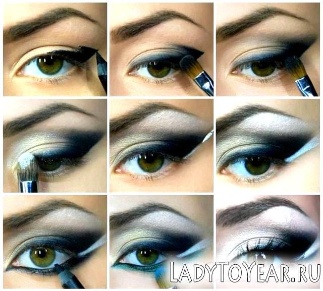 Арабський макіяж для зелених очей фото